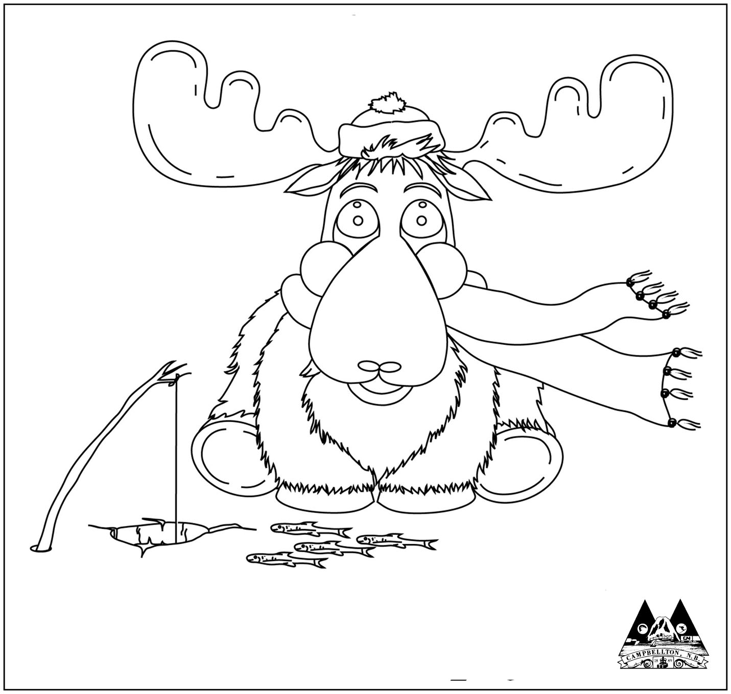 ice fishing moose