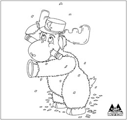 camp moose on the loose coloring pages | Visitors Guide